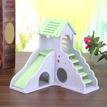 Luxurious Hamster House Swing Toy Slide Hamsters Nest Loft Bed Cage