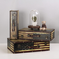 The new furniture decoration America British flag trunk window display props bar display storage box