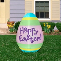 2017 outdoor lighted easter decoration inflatable easter egg for advertising/party/event