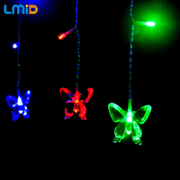 2M 60LEDs Butterfly Holiday String Lighting Lamp 220V Fairy LED Curtain String Light For Xmas Christmas