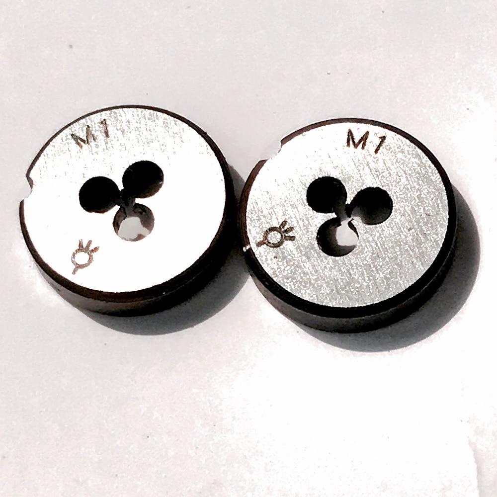 Handwerkzeuge Kostenloser Versand Von 2 Pcs Metric Standard Sterben M1 X 0,25mm Stirbt Gewinde Werkzeuge Drehmaschine Modell Ingenieur Gewinde Maker 1mm X 0,25mm GroßEs Sortiment