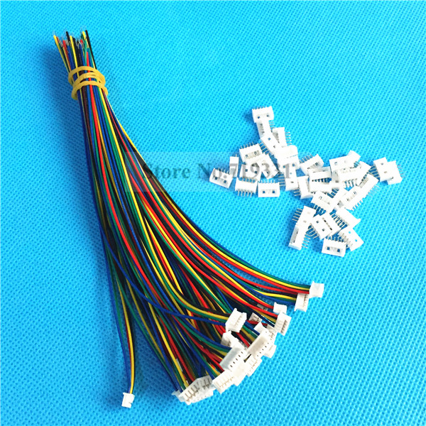 50Sets 5 Pin Single End SH Pitch 1.25mm 28AWG Wire To Board Connector