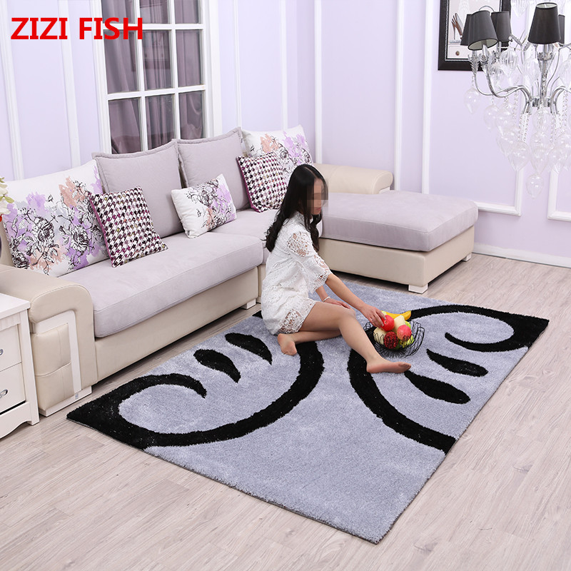 2018 Polyester carpet coffee table room bedroom living room Rug garden kids mat computer chair swivel cushion Home Decoration