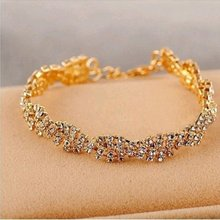 1 pcs Fashion Ladies Clear Crystal Chain Bracelet Charm Wedding Bridal Party Jewelry New(China)