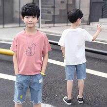 f60a328b448e8 الطفل الصبي ملابس الصيف لسن 4 6 8 10 12 13 سنوات 2019 الاطفال ملابس قصيرة  الأكمام تي شيرت + السراويل الدعاوى الفتيان مجموعة ملاب.