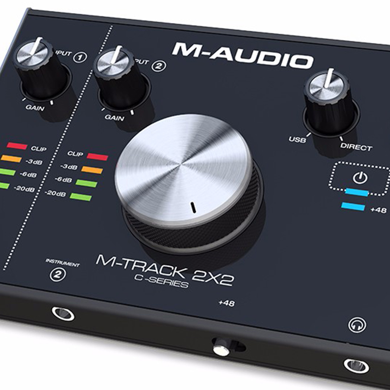 M-AUDIO M-Track 2x2 Professional Sound Card USB Audio Interface External Computer arranger Sound Card 24bit/192kHz USB2.0 Type-C m track 2 2