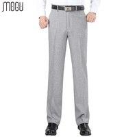 MOGU Stripes Men S Trousers 2017 New Fashion High Quality High Waist Unhemmed Loose Formal Pants