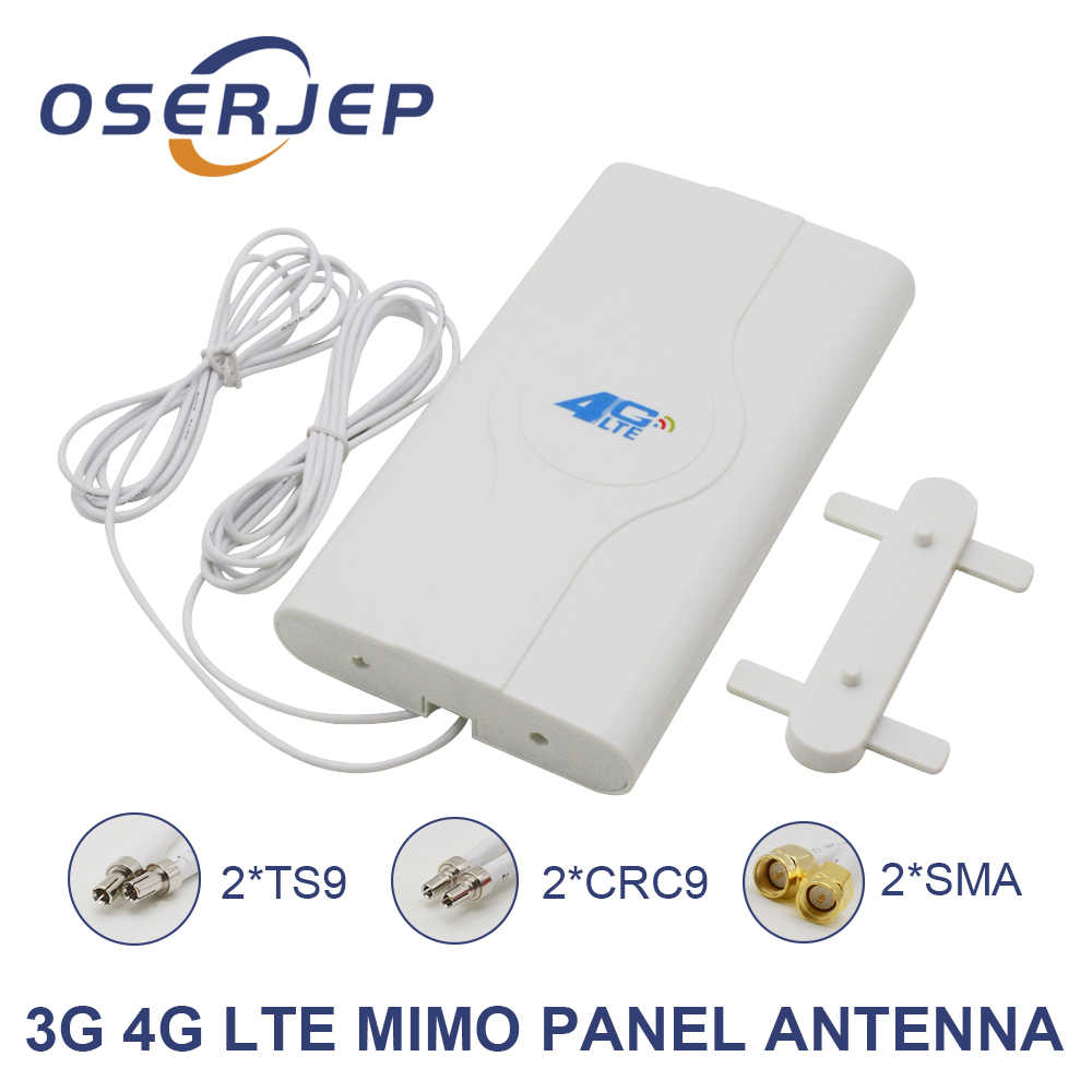 700~2600mhz 88dbi 3g 4g Lte Antenna Mobile Antenna 2* SMA/2* CRC9/2* TS9 Male Connector Booster Mimo Panel Antenna+2 Meters