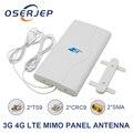 Мобильная антенна 3G 4G LTE, 700~2600 МГц 88 дБи, усилитель с коннектором «папа» 2* SMA/2* CRC9/2* TS9, панельная антенна MIMO + 2 метра