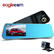 Car Camera DVR Car Dvr Blue Review Mirror Digital Video Recorder Auto Navigator Registrator Camcorder Full HD 1080P black box