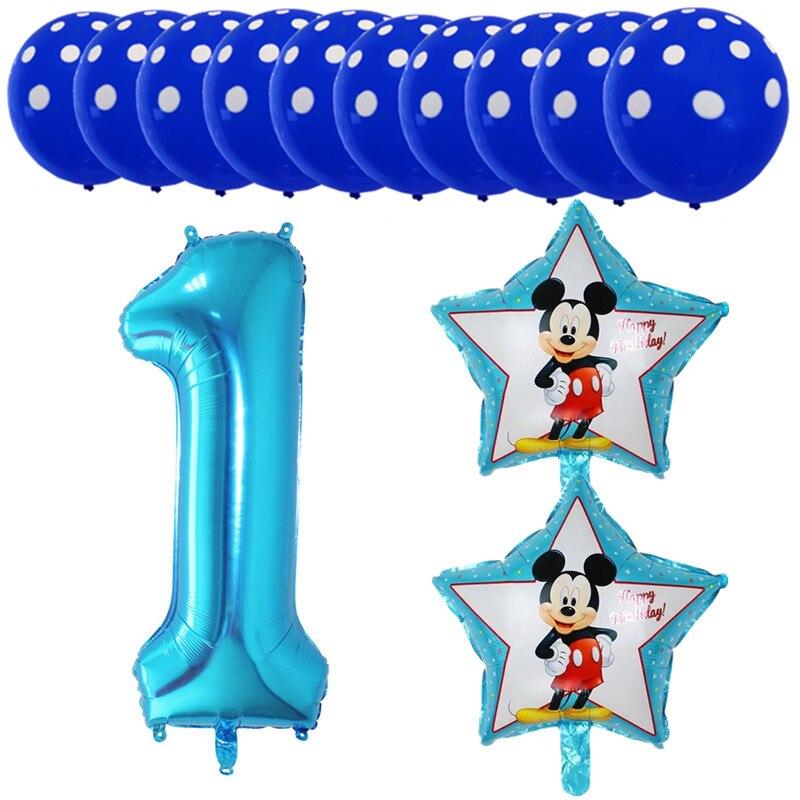 QGQYGAVJ13 Micimini 1 2 3 4 5 Foil Balloon Set Xenon Latex Baby Shower Birthday Party Decoration Children Toys