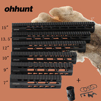 Hunting Tactical AR 15 Rail NSR 15 Inch Free Float Quad Rail KeyMod Handguard Picatinny Rail