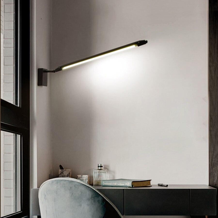 BEIAIDI personnalité créative bande mur LED lampe T5 Tube bande réglable intégré lumière réglable chambre chevet applique murale