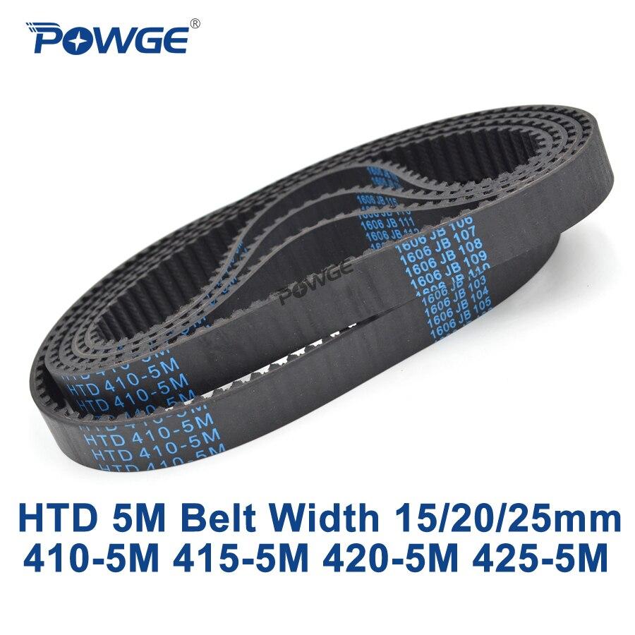 POWGE HTD 5 Mt zahnriemen C = 410/415/420/425 breite 15/20/25mm Zähne 82 83 84 85 HTD5M zahnriemen 410-5 Mt 415-5 Mt 420-5 Mt 425-5 Mt