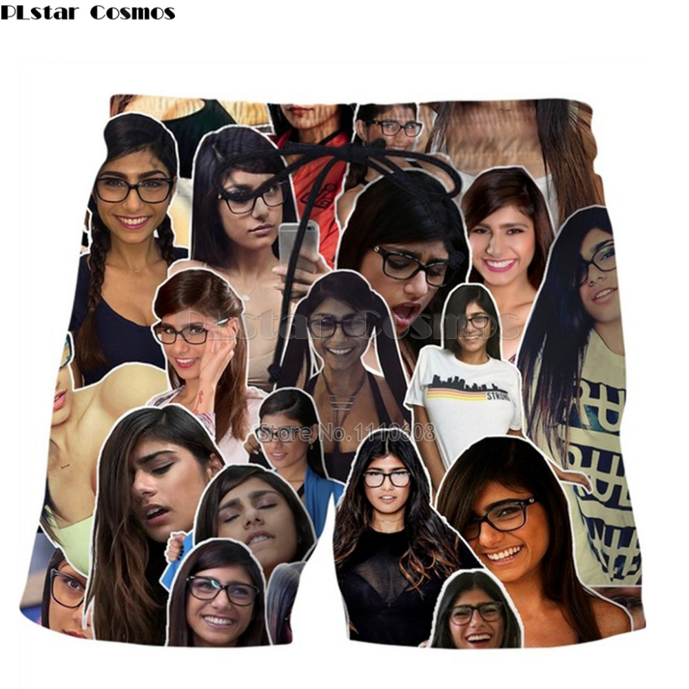 PLstar Cosmos 2018 Summer Mens Casual Shorts 3d Mia Khalifa Trousers For Women/Men Regular Shirts Dropshipping