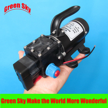 New Arrival automatic pressure switch type with handle and cooling fan 8L/Min DC 100W water pump diaphragm 24v