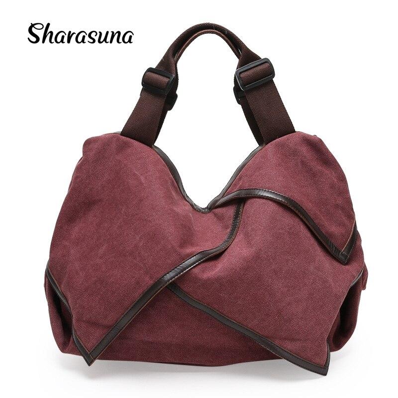 New Spring 2018 Female Canvas Bag Women fashion handbag shoulder bags crossbody tote bolsas