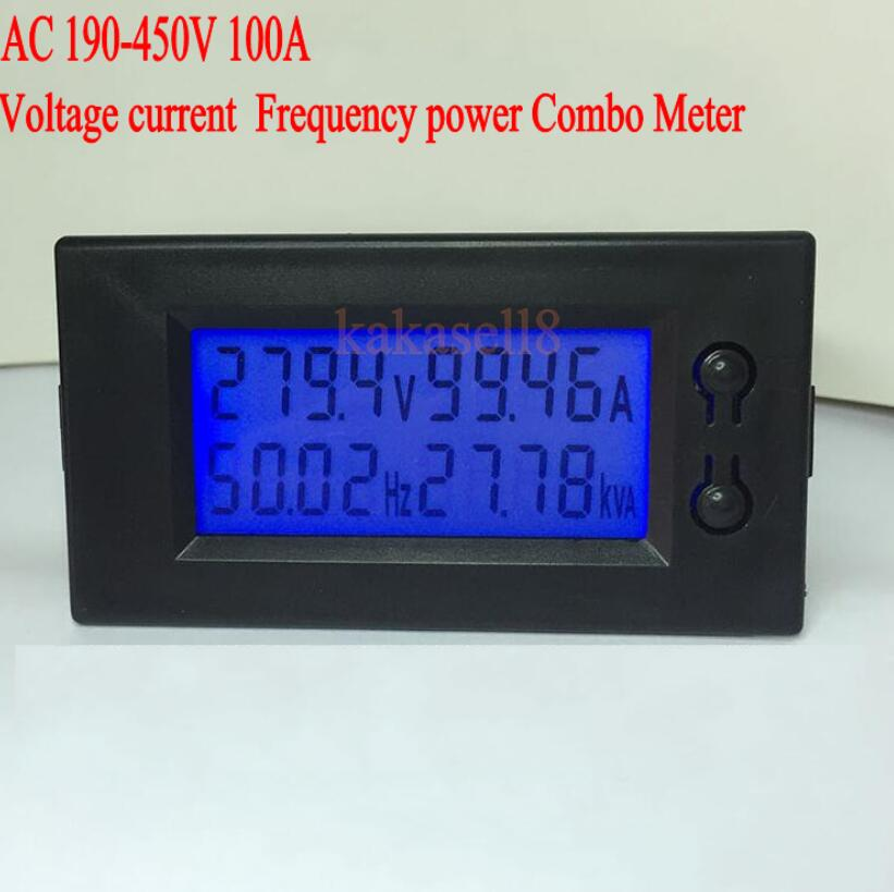 Voltage Frequency Meter : Ac to v a lcd voltage current frequency watt