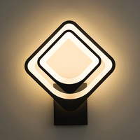 led Wall Lamps for Bedroom living room square white black body 27W AC90 260V Indoor Led Rotatable Wall Lamp with 3 light color