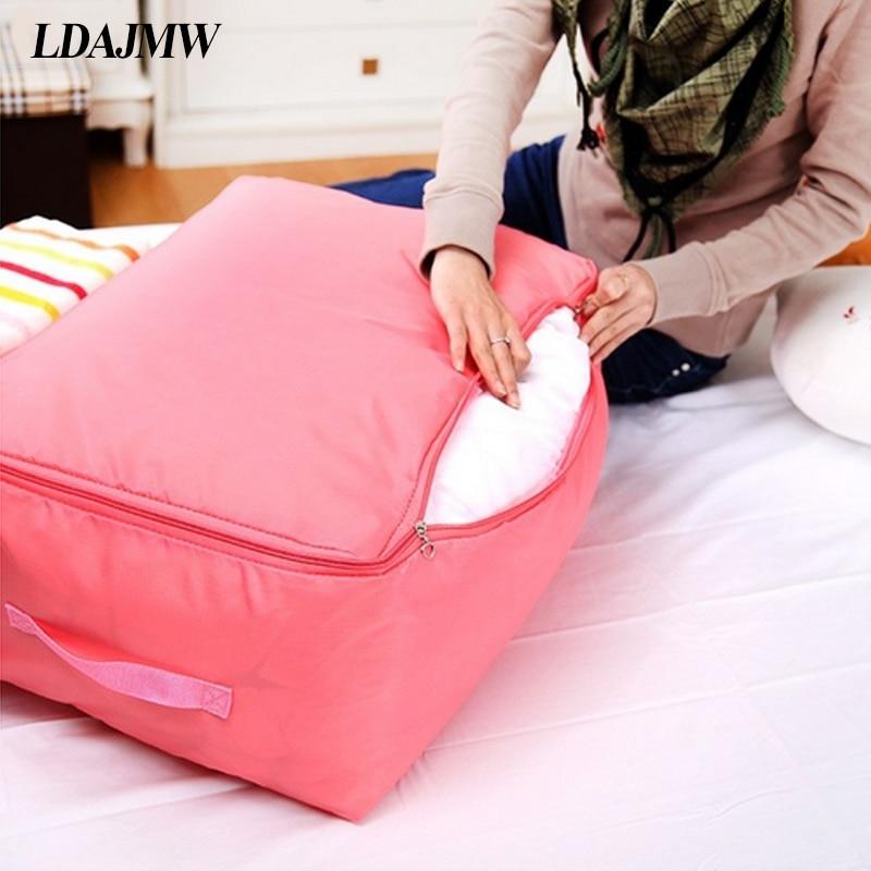 LDAJMW תיק רב-תכליתי לבגדים תיקיות מתקפלות Oxford Bout שקית אחסון גדולה כלי מיטה ארגונית מיכל