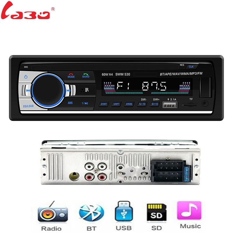 LaBo Autoradio SWM-530 12V Car Radio Bluetooth 1 din Stereo radios AUX-IN FM/USB/Receiver MP3 Multimedia Player Car Audio