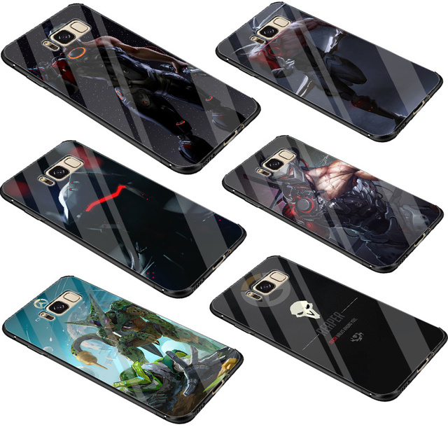 Gerleek патруля ячейки Стекло чехол для samsung Galaxy S7 край S8 S9 плюс Примечание 8 9 S10 Обложка сумка
