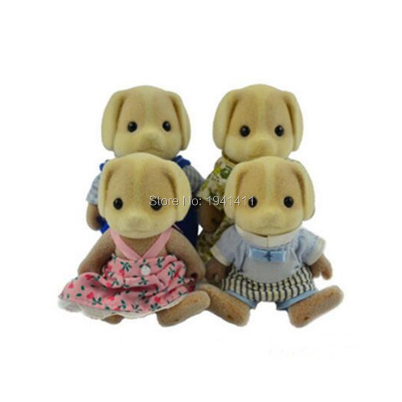Limited Collection Sylvanian Families Little dog Family 4pcs Parents & Kids Set New without Box tt03 sylvanian families mouse family 4pcs parents