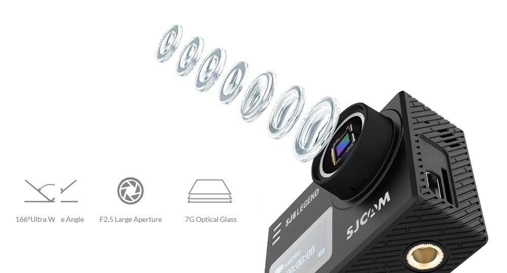 Sjcam sj6 legend 4k 24fps ultra hd notavek 96660 waterproof action camera 2.0 touch screen remote wifi raw sports dv