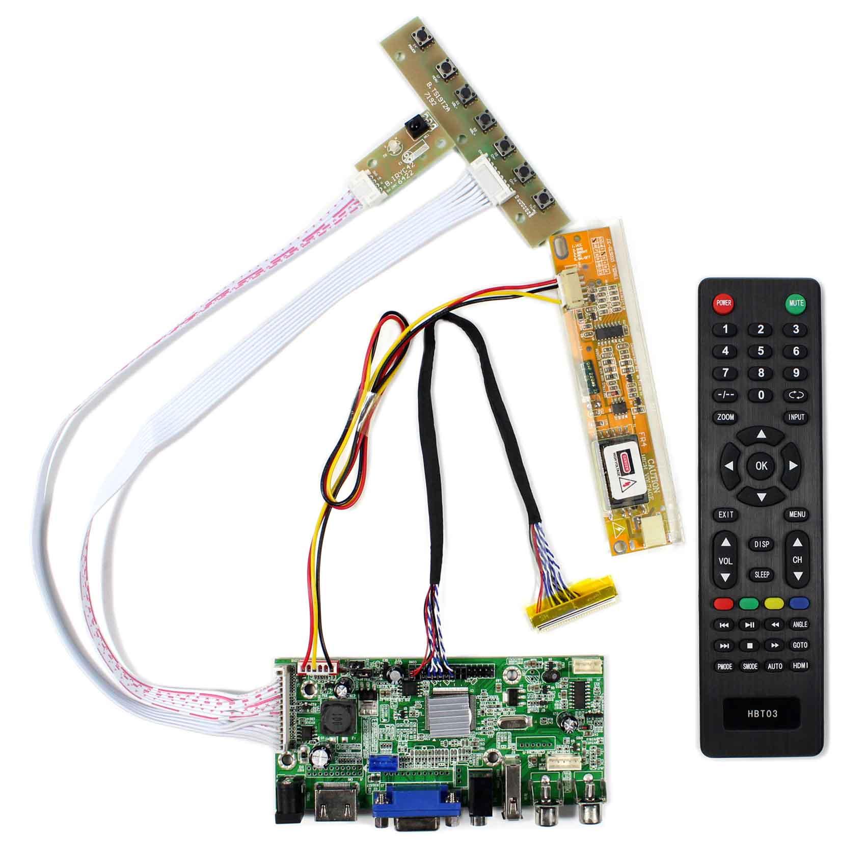 HDMI VGA 2AV USB Audio LCD Controller Board for 14 1inch 15 4inch 1280x800 LTN141AT01 LP154W01