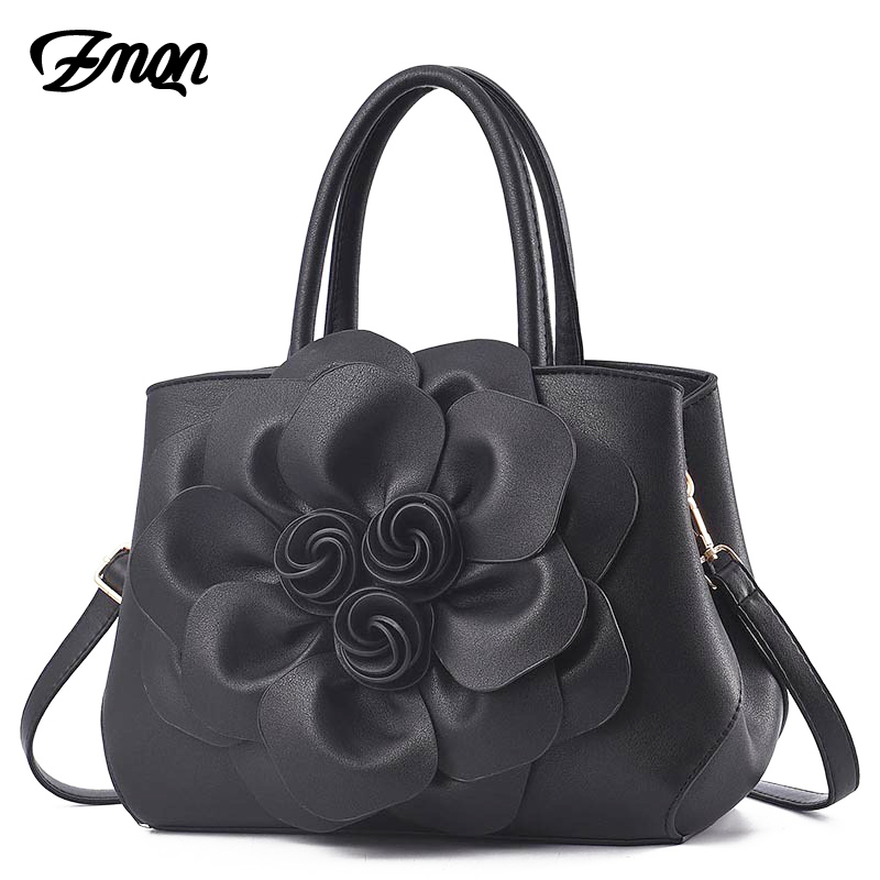 ZMQN Luxury Handbag Women Bag Designer Women PU Leather Handbag 2018 Ladies Shoulder Cross-Body Bags Flowers Female Kabelka A644 barbie 2018 women s shoulder bag leather simple style black ladies handbag female fashion cross body bags for women