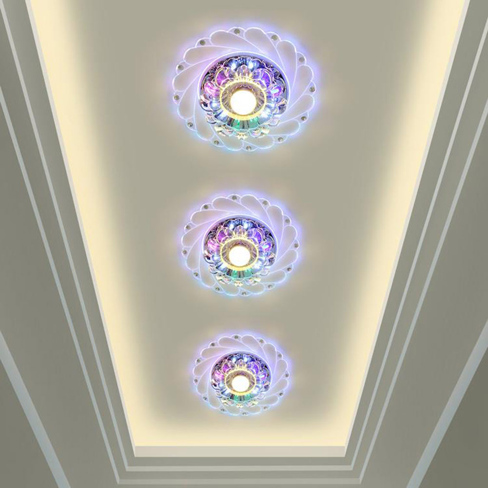 Colorful LED Crystal LED downlight 3W recessed Wall Ceiling spot down <font><b>light</b></font> for home indoor outdoor decoration modern wall lamp