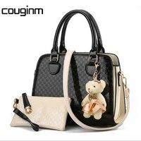 New Women Bag With Fashion Dear Composite Bag For Female PU Leather Geometric Print Handbag
