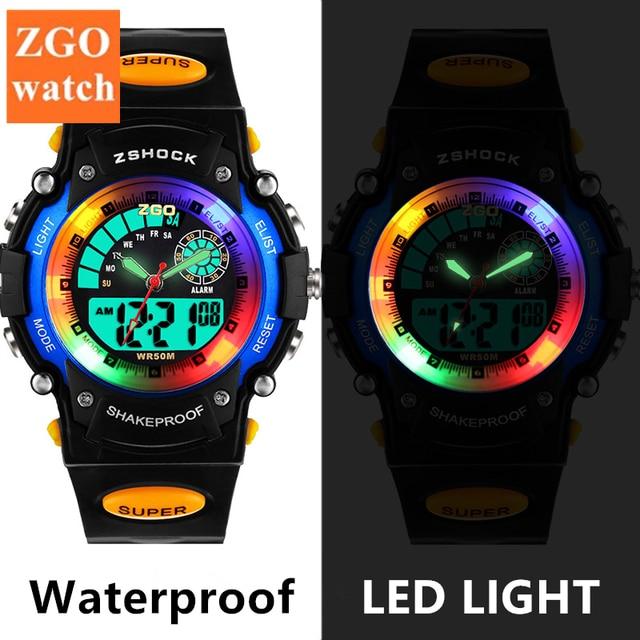 PASNEW Student Sport Kids Watches Digital LED Quartz Waterproof Watch Child Mult
