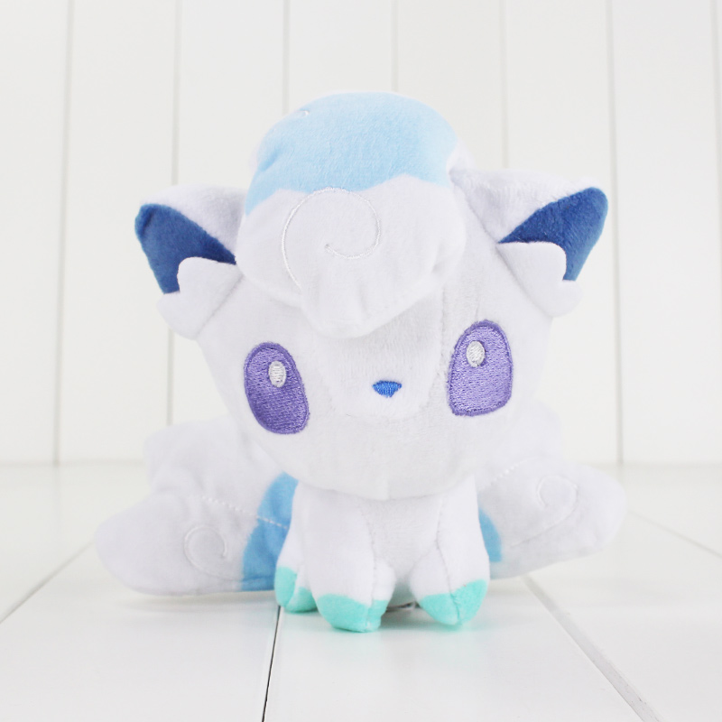 15cm Cute Small White Alola Vulpix Plush Cartoon Doll Toy Hot White Kawaii Soft Stuffed Cotton Doll Toy Animal Doll For Children