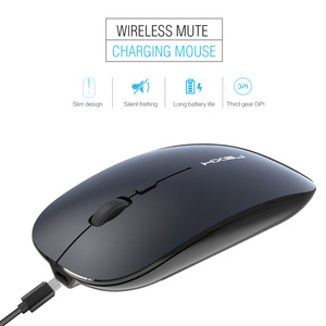 Image 5 - HXSJ 新ワイヤレスサイレントマウス充電式 usb タイプ c pc ノートブックオフィス黒最大 1600 DPI 調整可能な