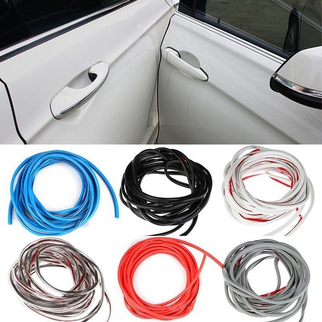 5M/Pack Universal Car Door Edge Guards Trim Styling Moulding Protection strip Scratch Protector For Car Vehicle 1