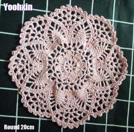 NEW Lace cotton table place mat pad Cloth Round crochet placemat cup mug Christmas tea coffee pot coaster New Year doily kitchen in Mats Pads from Home Garden