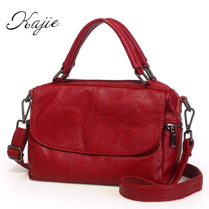 Kajie Boston Genuine Leather Women Bag High Quality Female Handbag Lady Red Shoulder Bag For Shopping Work Cow Skin Handbags 3d model stl relief stl format 3d model relief for cnc in stl file format clock 32