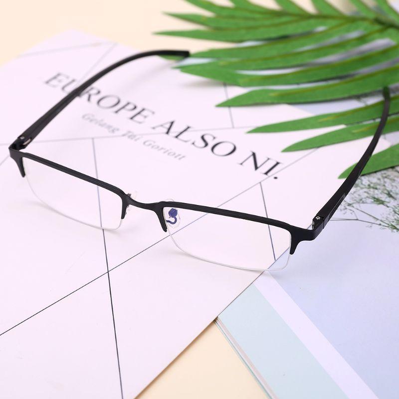 Luce blu di Blocco Occhiali Anti Blu Raggi di Affari Occhiali Da Vista Per Uomo Retangular Metal Frame Ottico Occhiali