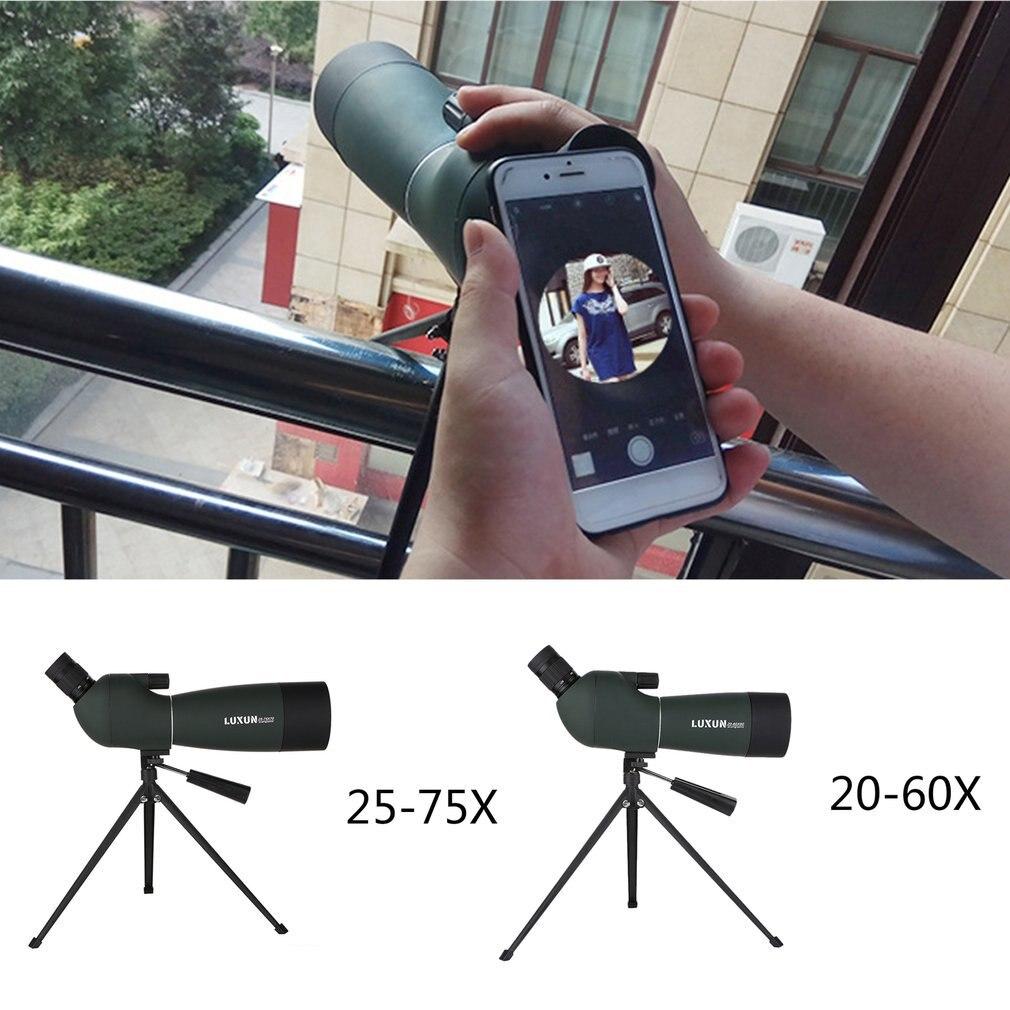 20 60x60/25 75x70 Spotting Scope Zoom Monocular Telescope Binoculars HD Outdoor Hunting Travel Waterproof Green Film Telescope-in Monocular/Binoculars from Sports & Entertainment    2