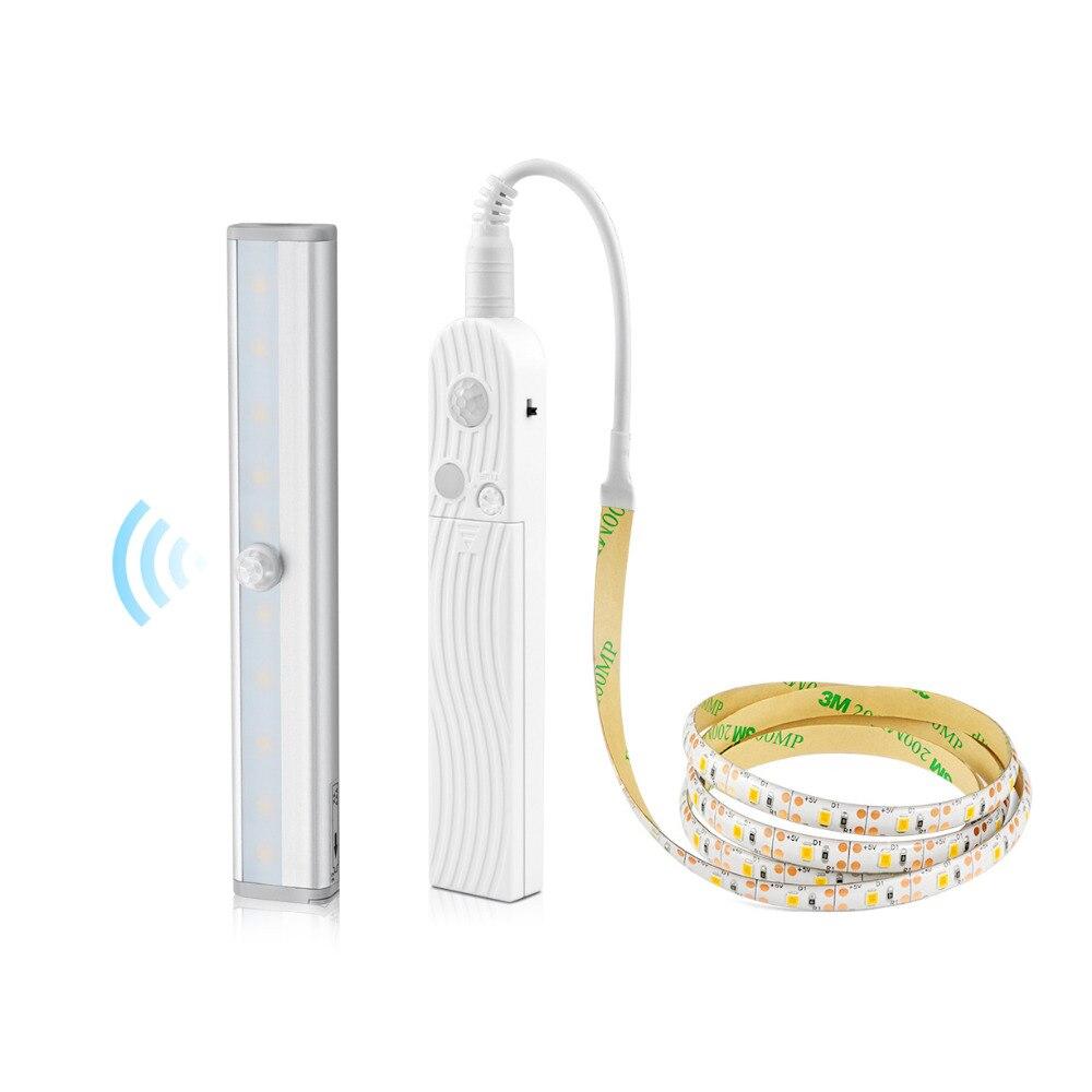 LED Under Cabinet Light Wireless PIR Motion Sensor LED Bar