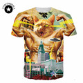 New fashion men/women's godzilla cat print 3d cartoon T-shirt Camisas games cartoon sword cat animal T Shirts Tops clothing