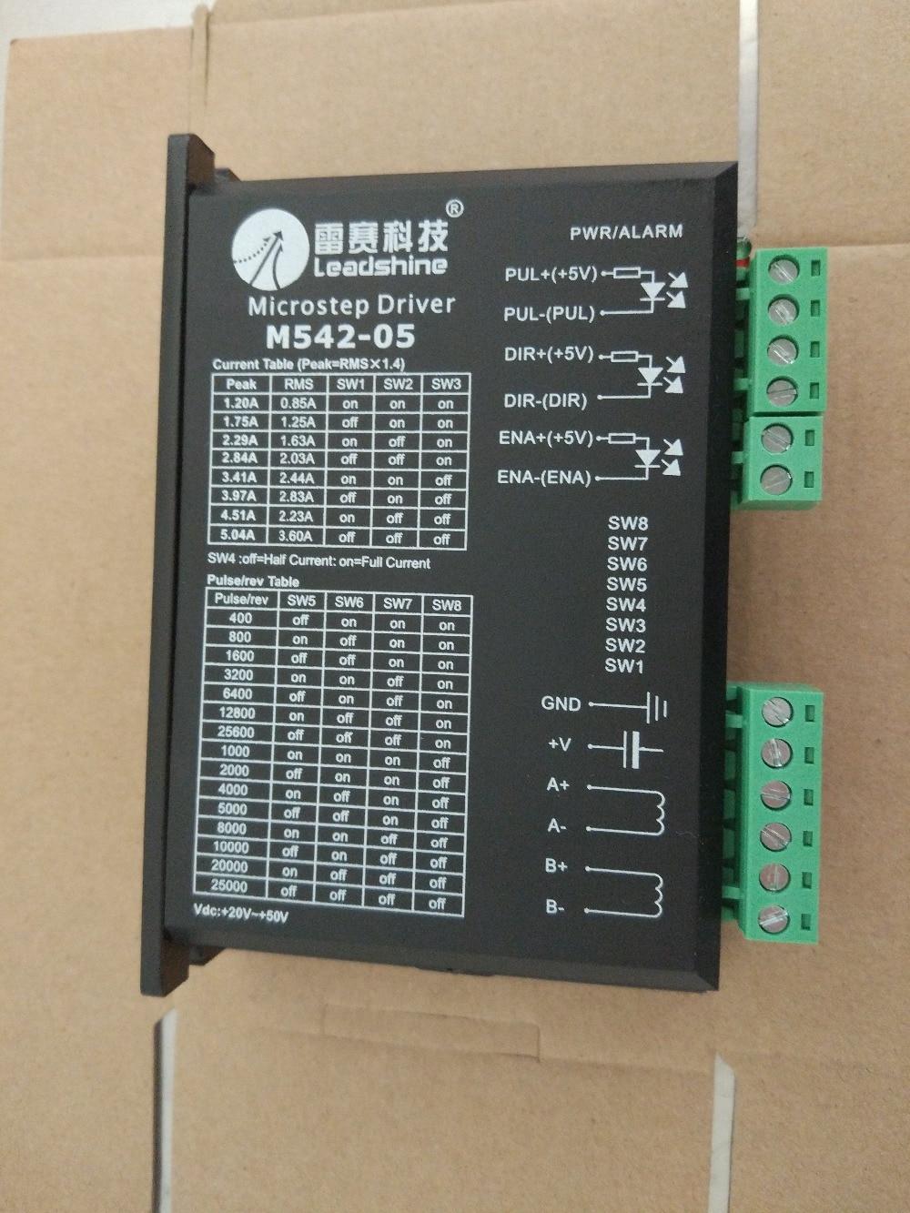 цена на M542-05 Leadshine NEMA17 NEMA23 2phase stepper motor driver 36VDC 4.2A CNC Router