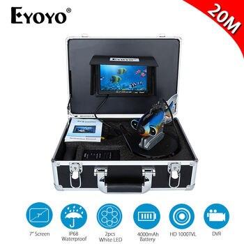 Eyoyo 7 LCD Fish Finder 20M Depth Sounder Underwater Camera For Fishing 4GB DVR Recording Waterproof Fish Shape Fish Camera EYOYO