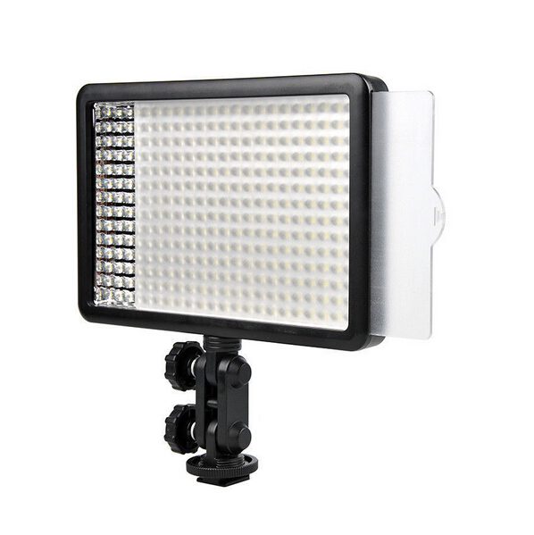 A013 Godox LED308C Bi-Color 3300K-5600K LED Video Light Lamp for DV Camcorder Camera +Remote+Handle Grip new godox 308c bi color dimmable 5500k 3300k led video led video studio light lamp professional video light with remote control