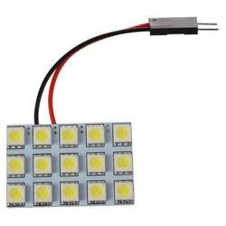 2x автомобиля Панель 15 SMD 5050 светодиодный T10 BA9S Купол гирлянда лампы адаптер фар