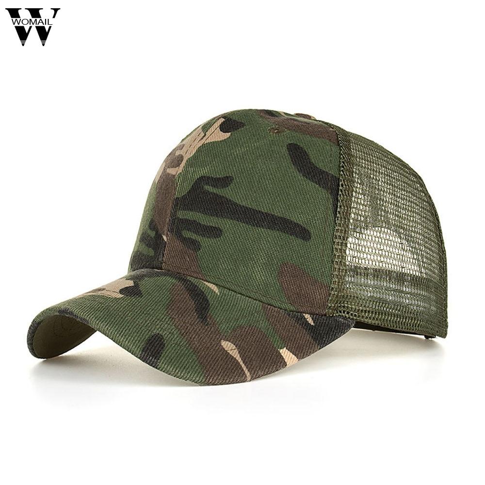 Men Women Camouflage Baseball Cap Military Army Camo Hat Trucker Snapback ZH1