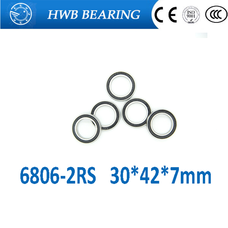 free shipping 2PCS 6806 61806 2RS Si3N4 Ceramic Ball Bearing Rubber Sealed BB30 Hubs 6806-2RS 30x42x7mm free shipping 6806 2rs cb 61806 full si3n4 ceramic deep groove ball bearing 30x42x7mm bb30 bike repaire bearing