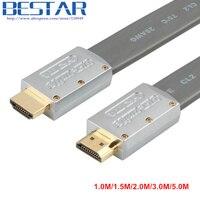 Cabo HDMI para HDMI cabo HDMI 2.0 Plana 1 M 2 M 3 M 5 M 4 K * 2 k cabo hdmi 1080 p 3d para ps3 projetor hd lcd apple computador televisão a cabo
