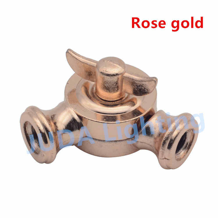 Connector Double-pass universal steering joint lamp base adapter for ceiling rose canopy retro LED bulb wall lamp chandeliers